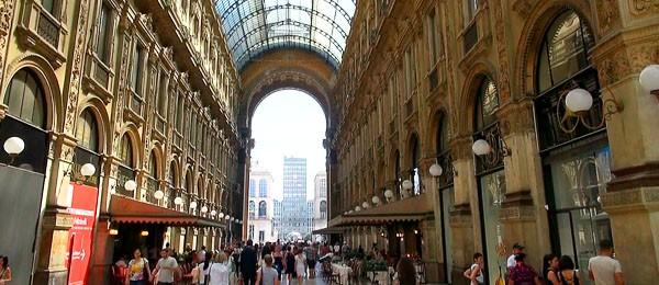 Living in Milan, view of Galleria Vittorio Emanuele in Milan